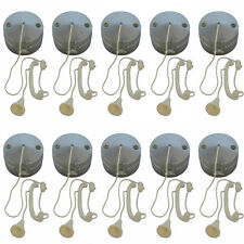 10 x Chrome Effect Ceiling Pull Switches (for Lighting Circuits) 6 amp 1 / 2 Way