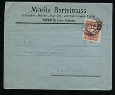 Polen 1919 Brief Bielitz nach Bogumin seltene Frankatur ADLER 25 Halerzy