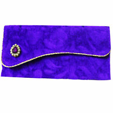 Purple Indian Designer Pouch Wedding Gift Card Envelope Fabric Pouch Money Bag