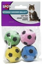 Ethical Sponge Soccer Balls Cat Kitten Toy 4-Pack Colorful Interactive