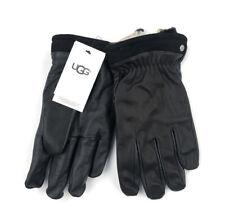 Ugg Mens Capitan Leather Gloves Black Size Large Winter