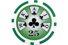 BLISTER 25 Poker Fiches 14 gr. in Clay Royal Flush  Valore 25 - cod. RF25