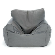 Large Luxury Bean Bag Cover Armchair Beanbag Sofa/Chair Armrest Side Pocket Grey