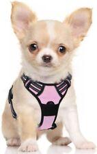 New listing Rabbitgoo Dog Harness No-Pull Pet Harness Adjustable 3M Reflective Pink Small
