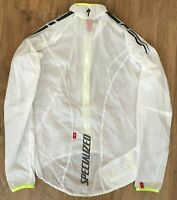 Specialized RARE mens white transparent cycling jersey Windstopper Jacket size M