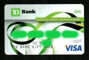 TD BANK Green Ribbon 2014 Debit / Gift Card ( $0 - NO VALUE )