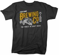 Men's Personalized Brewing Co T-Shirt Brewers Shirt Brew Master Brewery Tee