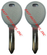 PAIR - New Uncut 1998 - 2006 Jeep Transponder Chip Key - Same Day Shipping