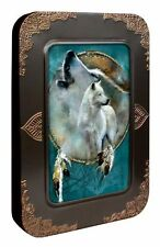 Wolf Spirit Shield 12 Blank Note Cards in Keepsake Tin Box by Tree Free