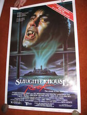 SLAUGHTERHOUSE ROCK original MOVIE POSTER > ROLLED 1987 > 1980's horror vampire