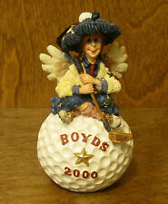 "Boyds Ornament(s) #25661 Birdie.Four! 4.5"" resin Nib From Retail Store Golf"