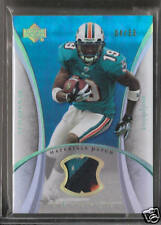 2007 Trilogy Football Ted Ginn Jr. Gold Rookie Materials Miami Patch Card #04/33
