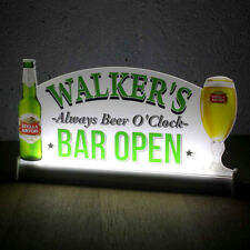 "Light Up LED signo, Personalizado Home Bar Cerveza signo, barra de luz de neón cartel abierto, 16""x8"""