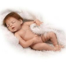"22""Reborn Baby Doll Full Body Silicone Naked Sleeping Newborn Girl toys Gifts it"