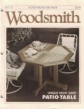 Woodsmith 1991 No 75 Unique Eight 8 Sided Patio Table