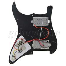 More details for black guitar scratch plate loaded  pickguard with dual humbuckers pickups