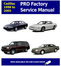 1998 - 2005 CADILLAC PRO Factory Service and Repair Manual OEM ON USB