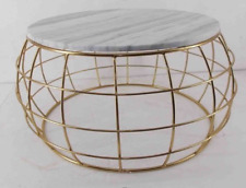 New York Gold Table - Side table - metal table - Marble - Living room