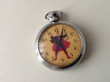 VINTAGE 1960's RARE SUPERMAN INGERSOLL POCKET WATCH Made in the U.K. ( SCARCE )