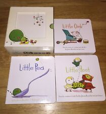 A LITTLE BOOKS BOX SET BABY Toddler BOARD BOOKS Children Hoot Pea Oink Rosenthal
