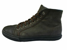 Premium Leather Mens Shoes GUCCI TRAINER BOOTS Casual High Fashion Designer UK 8