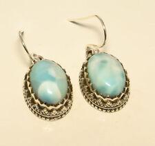 Pendientes de joyería con gemas naturales Larimar