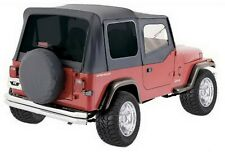 Rampage 99415 Replacement Black Soft Top w/ Door Skins 88-95 Jeep YJ Wrangler