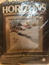 Monarch Horizons Winter Watercolor Cr 36 Trapunto Stitchery Roger Reinardy NEW