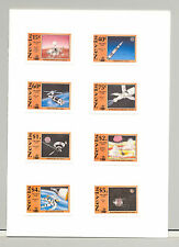 Nevis #654-661 Space, Apollo, Columbus 8v Imperf Proofs in Folder