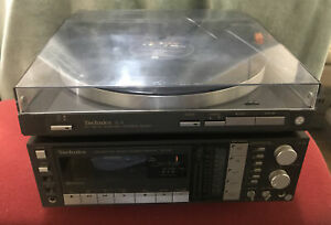 TECHNICS SL-3 AUTO LINEAR TURNTABLE + MATCHING SA-K6L STEREO CASSETTE RECEIVER
