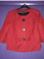 M AND S AUTOGRAPH RED SHORT RETRO JACKET SIZE 14