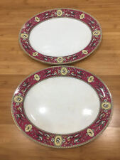 Antique Ridgway Sparks Ridgways Chelsea Pattern Pair of Oval Trays / Platters