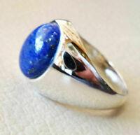 925 Sterling Silver Certified Handmade Lapis Lazuli Gemstone Christmas Mens Ring