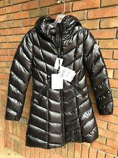 Moncler Fulmarus Fur-Trim Down Coat Missing Fur Black XS 0 MSRP $2180