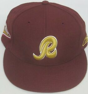 NFL Washington Redskins Burgundy Limited Edition Flat Bill Fitted Hat, Sz 7 1/4