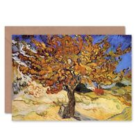 Vincent Van Gogh Mulberry Tree 1889 Old Master Blank Greeting Card With Envelope
