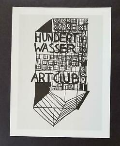 "Friedensreich Hundertwasser ""Art Club Cover""  Mounted offset Lithograph  1986"