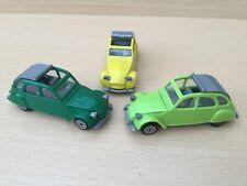 Lot de 2 Citroën 2CV 6 NOREV 1/43 PLASTIQUE N°56 des années 70 + 1 JET CAR