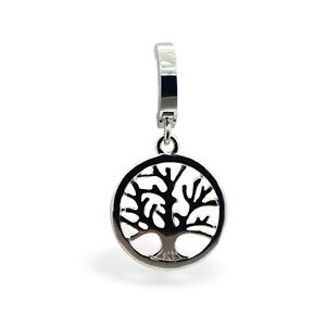 TummyToys Silver Navel Ring with Gorgeous Tree of Life Drop Charm [TT-69154]