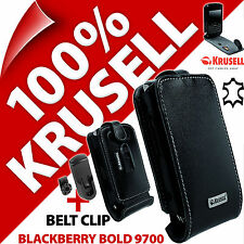 Krusell Orbit Flex GENUINE LEATHER Flip Case Cover+Clip for Blackberry Bold 9700