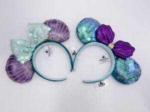 Disney Parks 2020 Purple Little Mermaid Ariel Minnie Ears Headband Limited Rare