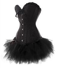 Corsage Kleid Mini Rock Korsett Tutu schwarz Gothic Vakuumbeutel