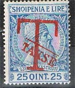 Albania (1914) - Postage Due with Hand-stamped Overprint (Scott # J4) MvLH VF