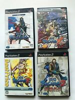 Lot 4 PLAYSTASION2 SENGOKU BASARA set JAPAN CAPCOM PS2 play stasion 2 NTSC-J