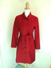 sportscraft red trench coat  tie waist