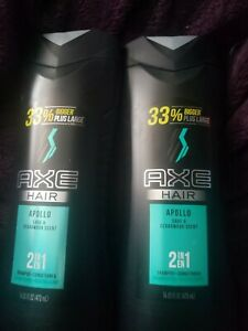2 Axe Body Wash Clean & Cool Apollo Sage and Cedarwood Scent 16 oz