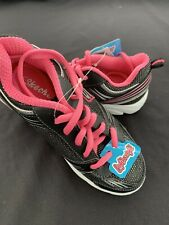 Girls Skechers shoes size 13 Black /neon pink