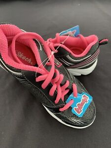 Girls Skechers shoes size 13 Black /neon pink