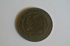 10 CENTIMES NAPOLEON III TÊTE NUE 1855 A CHIEN SUP
