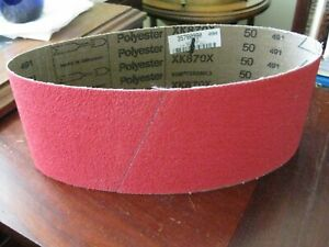 "VSM™ XK870X 4"" X 24"" 50 Grit X-Wt. Ceramic Hi Performance Sanding Belt Germany"